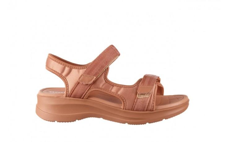 Sandały azaleia 330 560 nude, róż, materiał - płaskie - sandały - buty damskie - kobieta