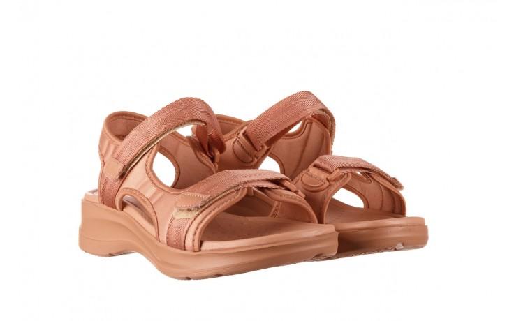 Sandały azaleia 330 560 nude, róż, materiał - płaskie - sandały - buty damskie - kobieta 1