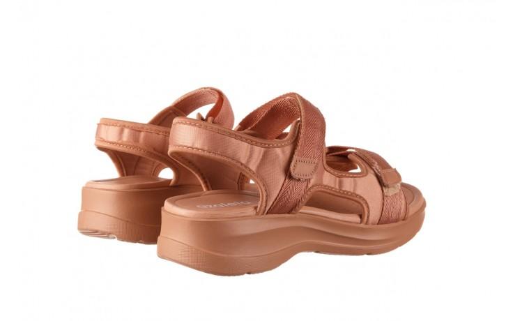 Sandały azaleia 330 560 nude, róż, materiał - płaskie - sandały - buty damskie - kobieta 3