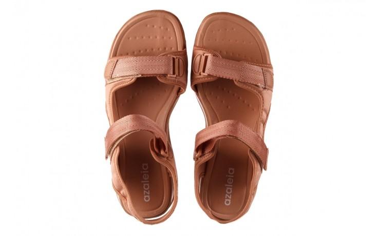 Sandały azaleia 330 560 nude, róż, materiał - płaskie - sandały - buty damskie - kobieta 4
