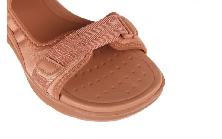Sandały azaleia 330 560 nude, róż, materiał - płaskie - sandały - buty damskie - kobieta 5
