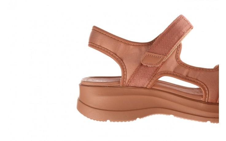 Sandały azaleia 330 560 nude, róż, materiał - płaskie - sandały - buty damskie - kobieta 6