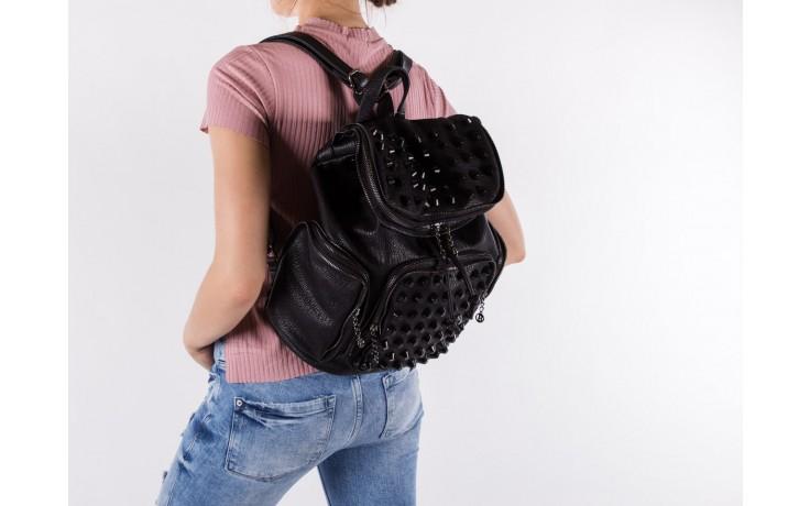 Plecak bayla-150 plecak s16-277 black, czarny, skóra ekologiczna  - akcesoria - kobieta 5