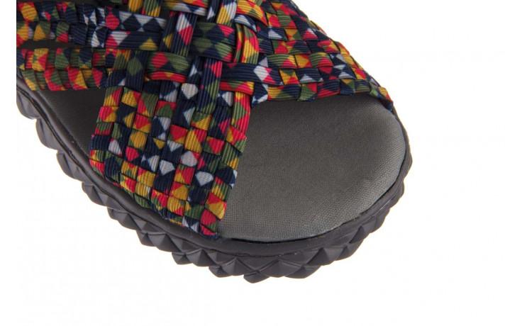 Sandały rock dakota fuchsia yellow green blue smoke, wielokolorowy, materiał - sandały - buty damskie - kobieta 5