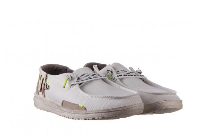 Półbuty heydude wendy star white, biały, materiał - sznurowane - półbuty - buty damskie - kobieta 1