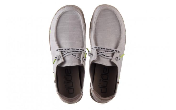 Półbuty heydude wendy star white, biały, materiał - sznurowane - półbuty - buty damskie - kobieta 4