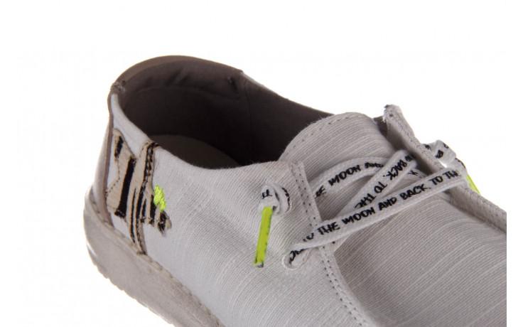 Półbuty heydude wendy star white, biały, materiał - sznurowane - półbuty - buty damskie - kobieta 6