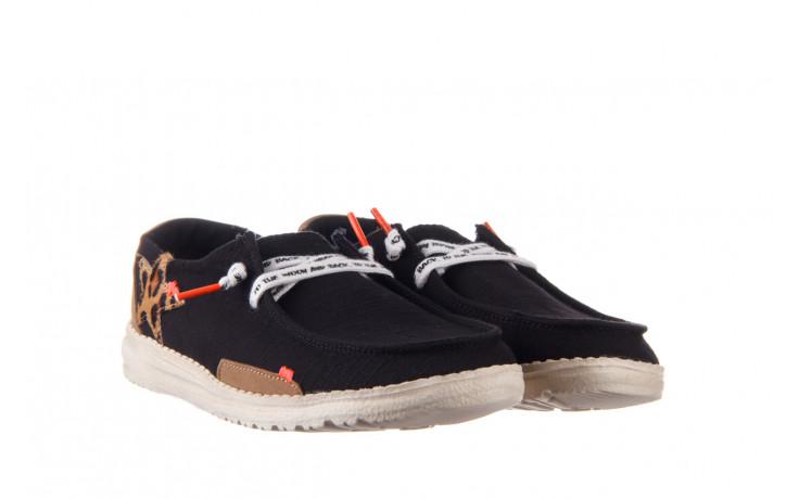 Półbuty heydude wendy star black, czarny, materiał - sznurowane - półbuty - buty damskie - kobieta 1