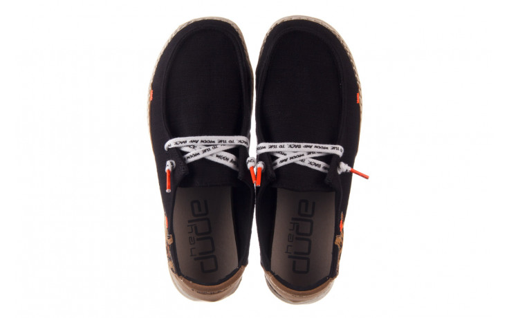 Półbuty heydude wendy star black, czarny, materiał - sznurowane - półbuty - buty damskie - kobieta 4