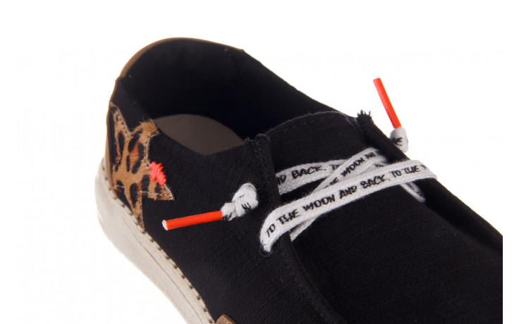 Półbuty heydude wendy star black, czarny, materiał - sznurowane - półbuty - buty damskie - kobieta 6