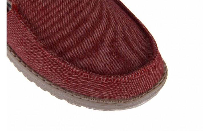 Półbuty heydude misty red barbados, czerwony, materiał - nowości 5