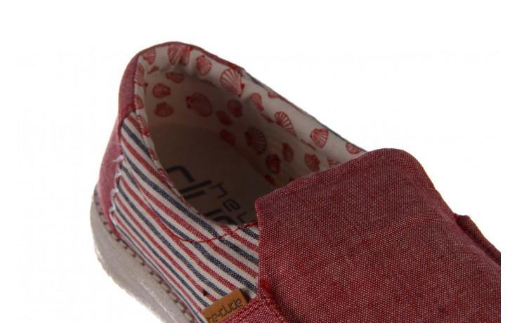 Półbuty heydude misty red barbados, czerwony, materiał - nowości 6