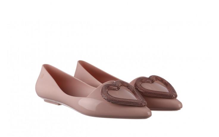 Baleriny melissa pointy heart ad soft pink 010329, róż, guma  - kobieta 1