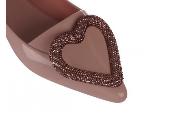 Baleriny melissa pointy heart ad soft pink 010329, róż, guma  - kobieta 5