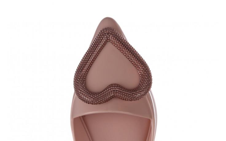 Baleriny melissa pointy heart ad soft pink 010329, róż, guma  - kobieta 6
