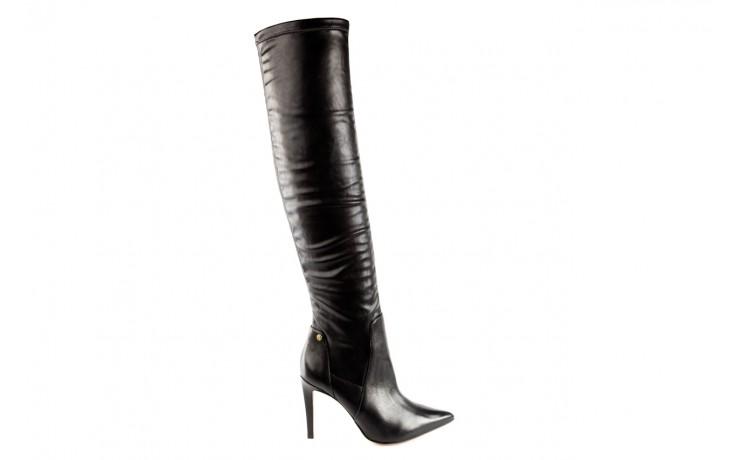 Kozaki bayla-067 118150 veg stre black noir, czarny, skóra naturalna - za kolano / muszkieterki - kozaki - buty damskie - kobieta