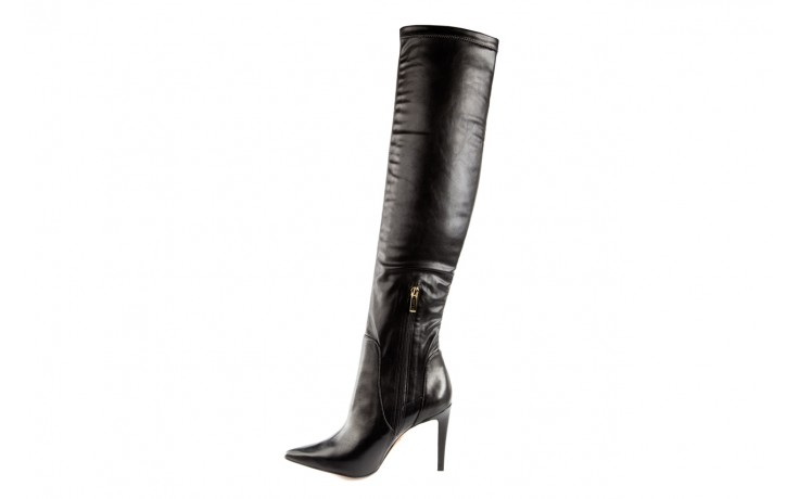 Kozaki bayla-067 118150 veg stre black noir, czarny, skóra naturalna - za kolano / muszkieterki - kozaki - buty damskie - kobieta 2
