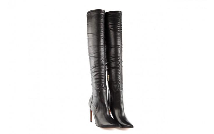 Kozaki bayla-067 118150 veg stre black noir, czarny, skóra naturalna - za kolano / muszkieterki - kozaki - buty damskie - kobieta 1