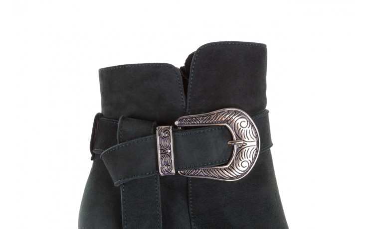 Botki bayla-182 18429 zielone na obcasie, skóra naturalna - worker boots - trendy - kobieta 5