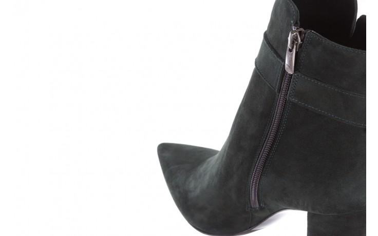 Botki bayla-182 18429 zielone na obcasie, skóra naturalna - worker boots - trendy - kobieta 7