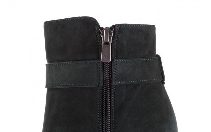 Botki bayla-182 18429 zielone na obcasie, skóra naturalna - worker boots - trendy - kobieta 8