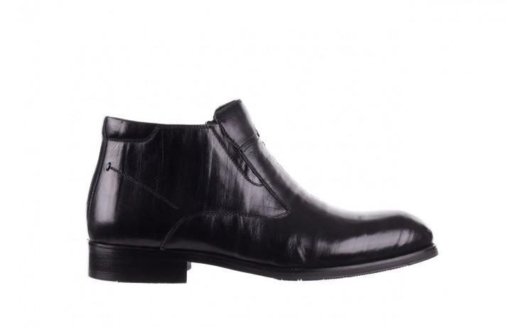 Trzewiki john doubare ygfr-z101-808-1 black, czarne, skóra naturalna - bayla exclusive - trendy - mężczyzna