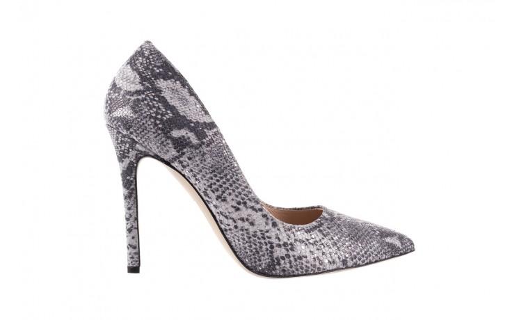 Szpilki bayla-097 14 srebrny wąż, skóra naturalna - do szpica - szpilki - buty damskie - kobieta
