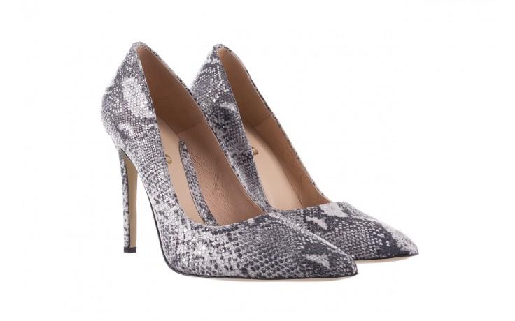 Szpilki bayla-097 14 srebrny wąż, skóra naturalna - do szpica - szpilki - buty damskie - kobieta 1