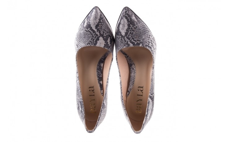 Szpilki bayla-097 14 srebrny wąż, skóra naturalna - do szpica - szpilki - buty damskie - kobieta 4