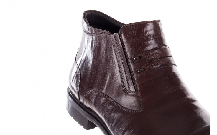 Półbuty john doubare ygfr-z102-310-1 brown, brązowe, skóra naturalna - sale - buty męskie - mężczyzna 5
