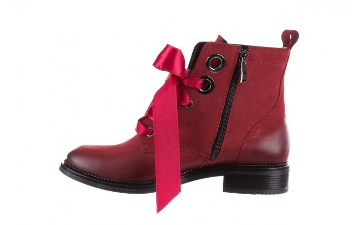 Trzewiki bayla-100 1002 bordowe ze wstążką, skóra naturalna - trzewiki - buty damskie - kobieta 2