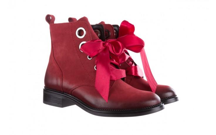 Trzewiki bayla-100 1002 bordowe ze wstążką, skóra naturalna - trzewiki - buty damskie - kobieta 1