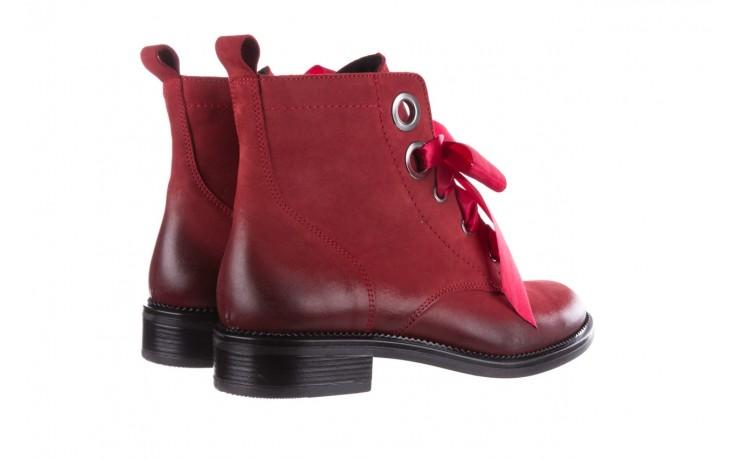 Trzewiki bayla-100 1002 bordowe ze wstążką, skóra naturalna - trzewiki - buty damskie - kobieta 3