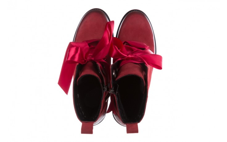 Trzewiki bayla-100 1002 bordowe ze wstążką, skóra naturalna - trzewiki - buty damskie - kobieta 4