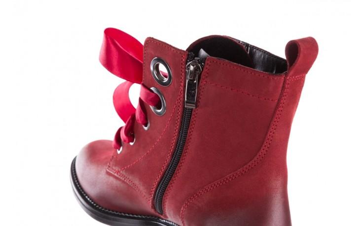 Trzewiki bayla-100 1002 bordowe ze wstążką, skóra naturalna - trzewiki - buty damskie - kobieta 8