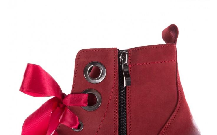 Trzewiki bayla-100 1002 bordowe ze wstążką, skóra naturalna - trzewiki - buty damskie - kobieta 6