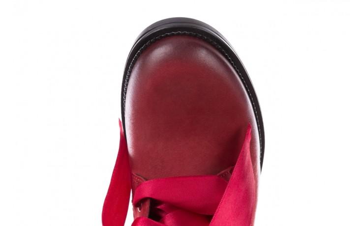 Trzewiki bayla-100 1002 bordowe ze wstążką, skóra naturalna - trzewiki - buty damskie - kobieta 5