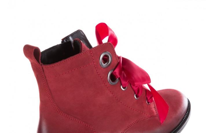 Trzewiki bayla-100 1002 bordowe ze wstążką, skóra naturalna - trzewiki - buty damskie - kobieta 7