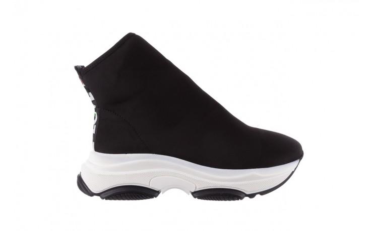 Sneakersy bayla-155 001-002 czarne sneakersy 19, czarny, materiał - sneakersy - buty damskie - kobieta