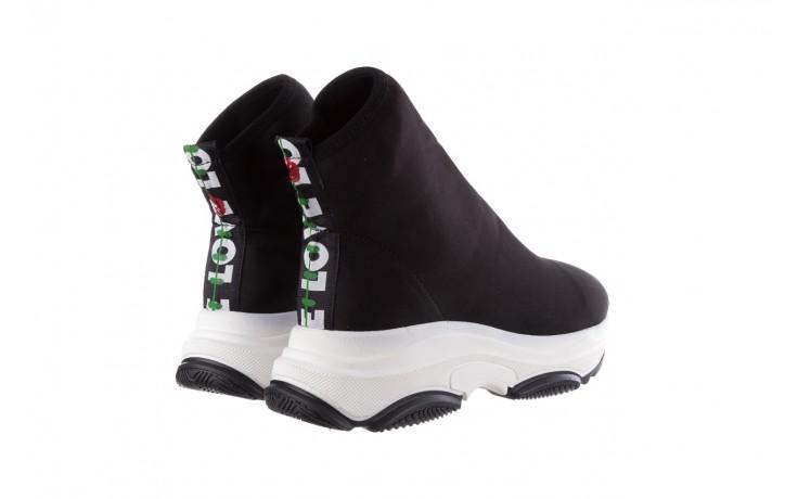 Sneakersy bayla-155 001-002 czarne sneakersy 19, czarny, materiał - sneakersy - buty damskie - kobieta 3