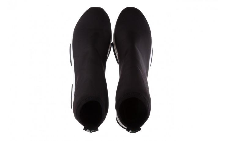 Sneakersy bayla-155 001-002 czarne sneakersy 19, czarny, materiał - sneakersy - buty damskie - kobieta 4