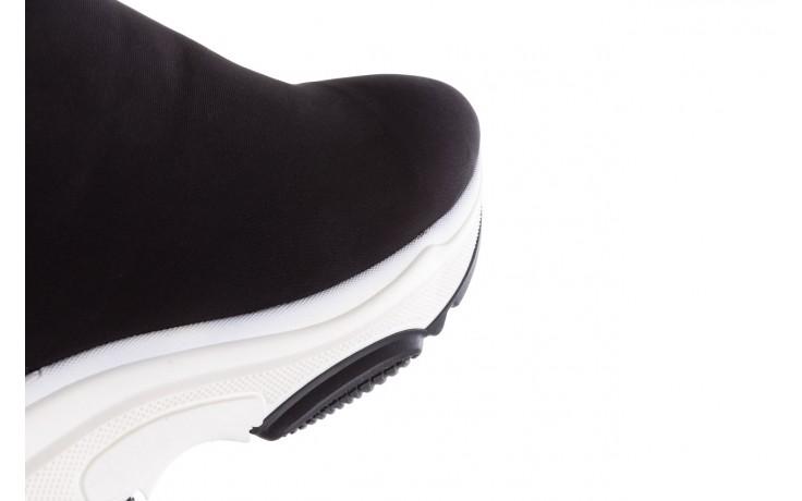 Sneakersy bayla-155 001-002 czarne sneakersy 19, czarny, materiał - sneakersy - buty damskie - kobieta 6
