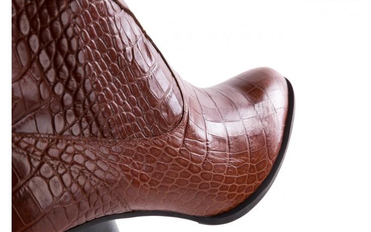 Botki bayla-097 33 kowbojki rudy krokodyl, skóra naturalna - bayla - nasze marki 5