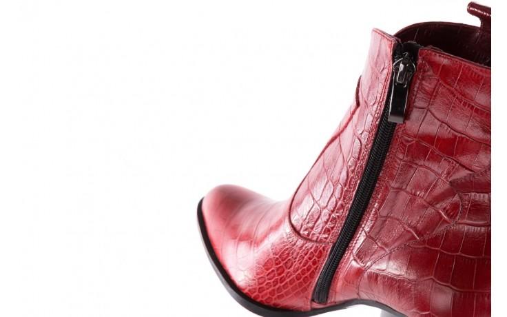 Botki bayla-097 33 kowbojki czerwony krokodyl, skóra naturalna 7