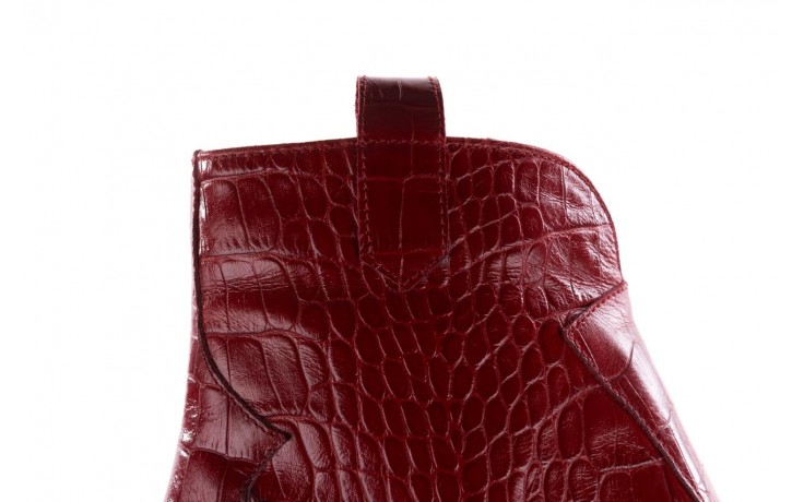 Botki bayla-097 33 kowbojki czerwony krokodyl, skóra naturalna 6