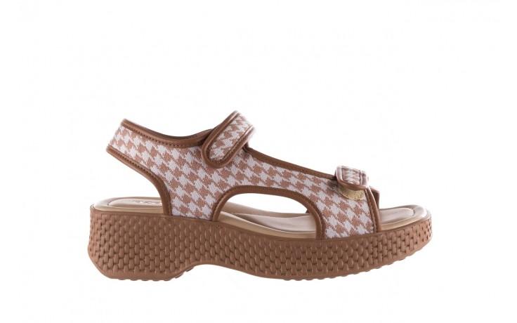 Sandały azaleia 321 295 amber plaid, brąz/ biały, materiał - azaleia - nasze marki