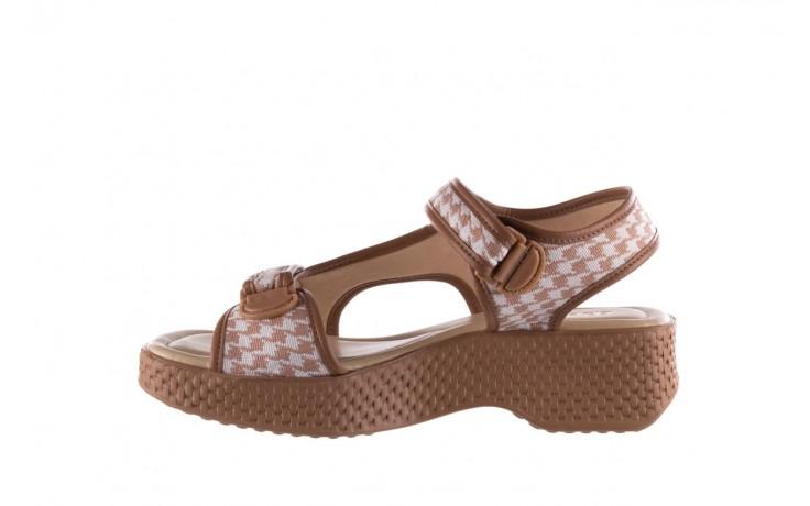 Sandały azaleia 321 295 amber plaid, brąz/ biały, materiał - azaleia - nasze marki 2