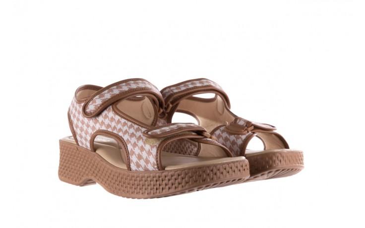 Sandały azaleia 321 295 amber plaid, brąz/ biały, materiał - azaleia - nasze marki 1