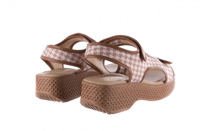 Sandały azaleia 321 295 amber plaid, brąz/ biały, materiał - azaleia - nasze marki 3