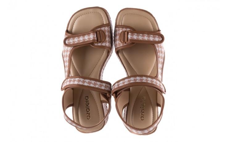 Sandały azaleia 321 295 amber plaid, brąz/ biały, materiał - azaleia - nasze marki 4